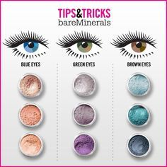 Bare Minerals Eye Makeup Tips Tricks Chart Purple Is The Best Pigment For Green Eyes Pinks Blues And Browns