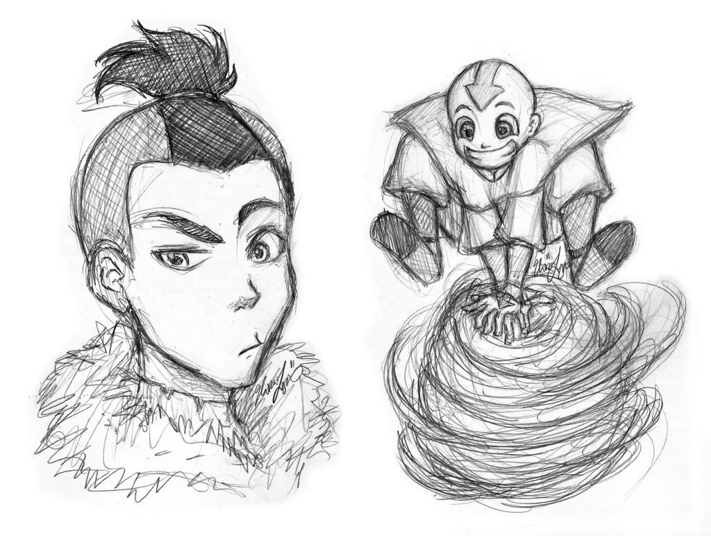 Eloras Sketchcan: Avatar The Last Airbender Manga and