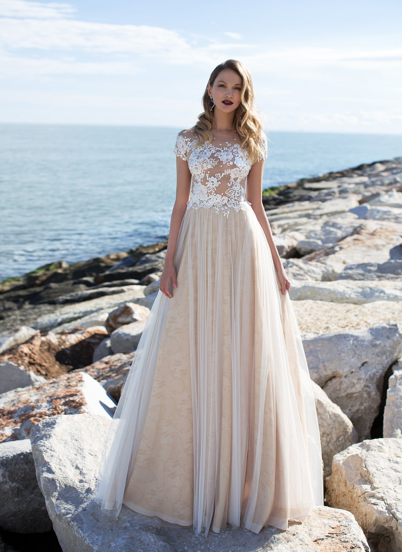 Lace wedding dress designers  Lace bridal top handmade wedding dress designer lace dress nude