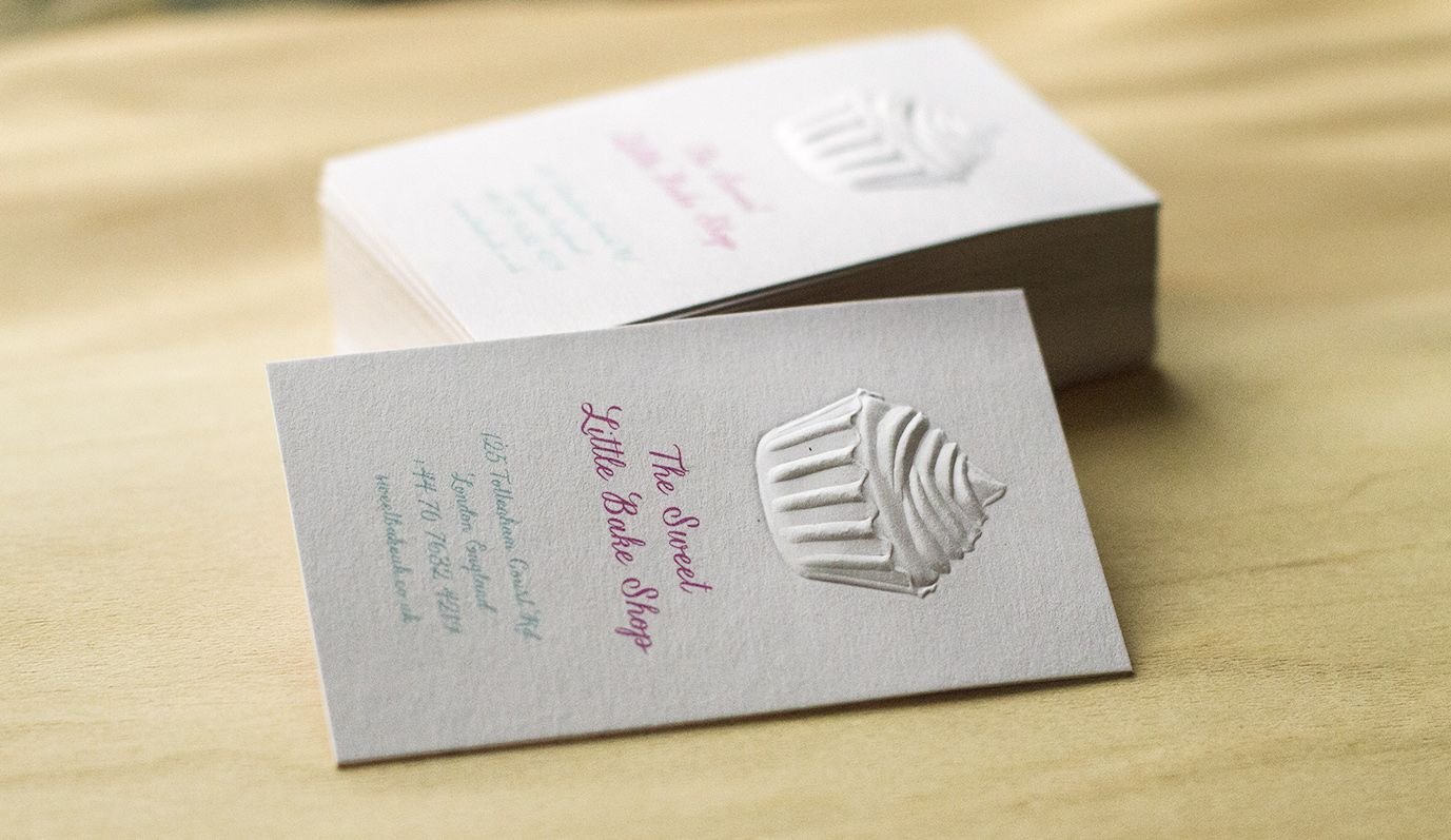D Embossed Cupcake Business Card Jukeboxprint Inspiration - Place card maker