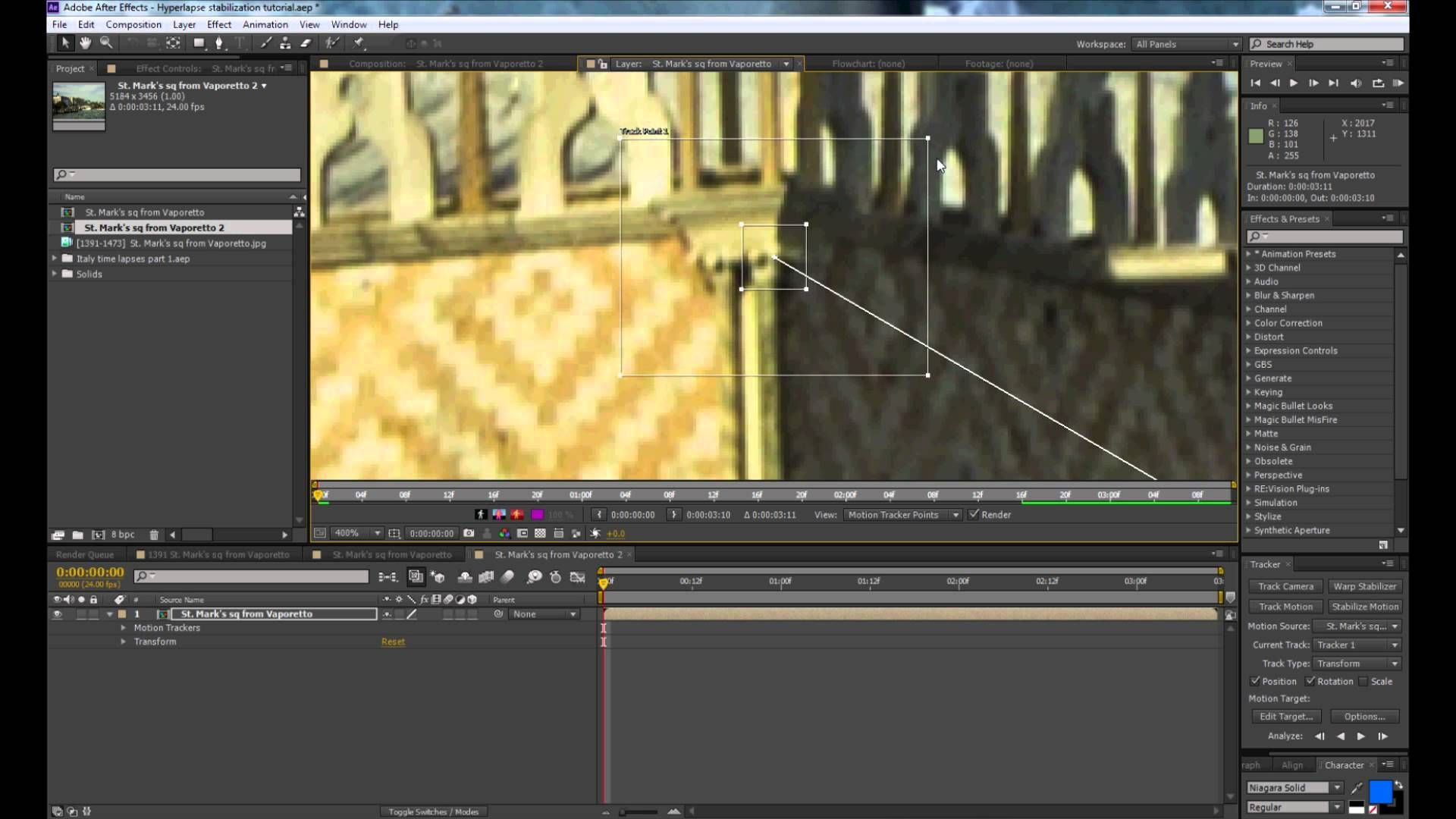 How To Stabilize A Hyperlapse In Adobe After Effect Cs6 When Warp