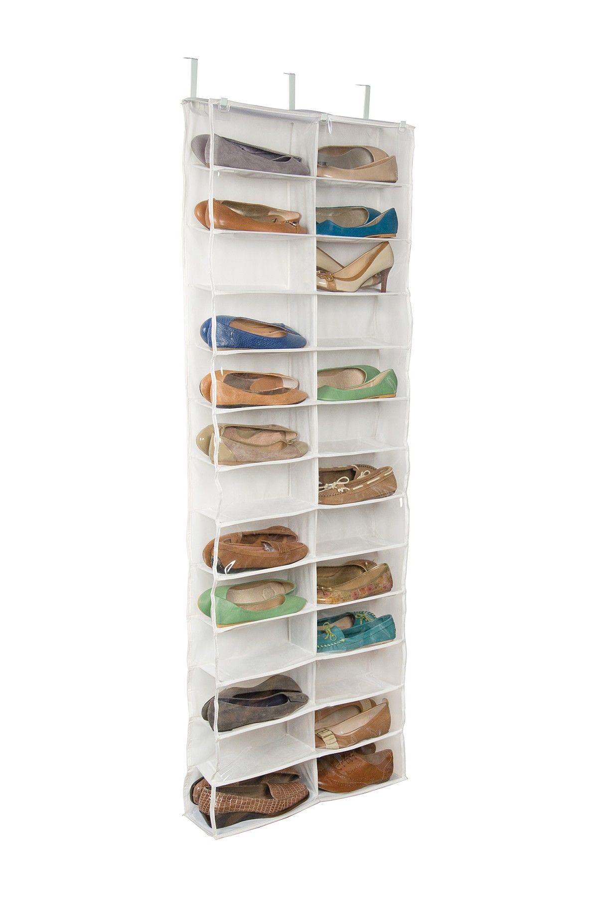 Richards Clear 26 Pocket Over The Door Organizer Door Shoe Organizer Over The Door Organizer Door Organizer