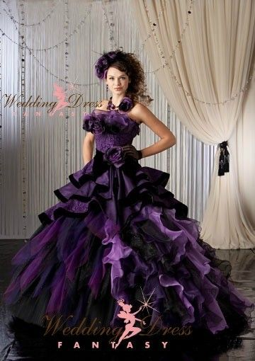Purple Gothic Wedding Dress From Weddingdressfantasy Com Purple