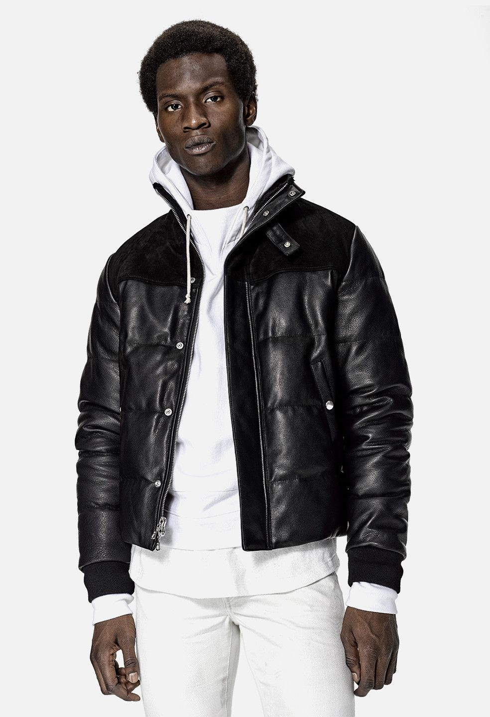 Leather Down Jacket / Black - JOHN ELLIOTT | Sartorial Delights ...