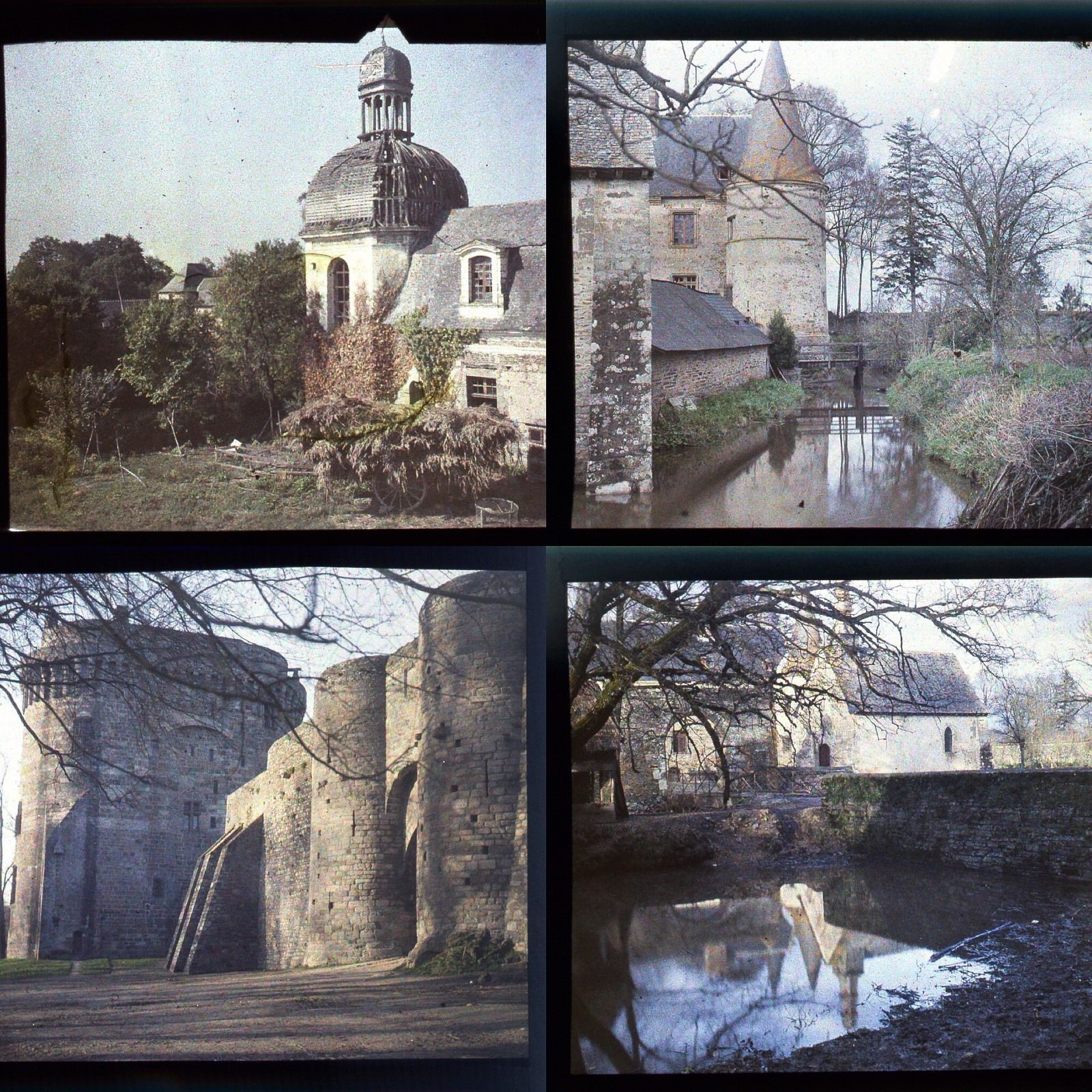AUTOCHROMES FILMCOLOR LUMIERE 1935 12 PLAQUES PHOTOS STEREO 6x13 VUES DINAN ETC. | eBay