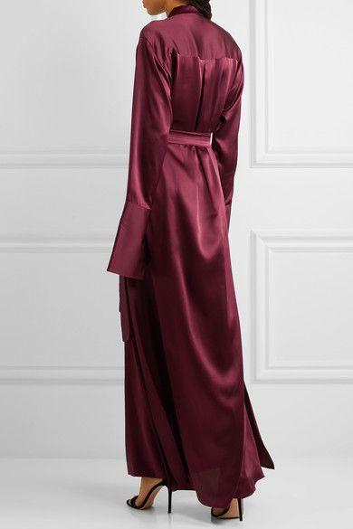 Michael Lo Sordo - Silk-satin Maxi Dress - Burgundy