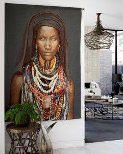 etnisch interieur schilderij | www.bass-deco.be | Pinterest ...