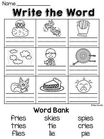 IGH and IE Worksheets \ Activities {NO PREP!} Phonics - phonics worksheet