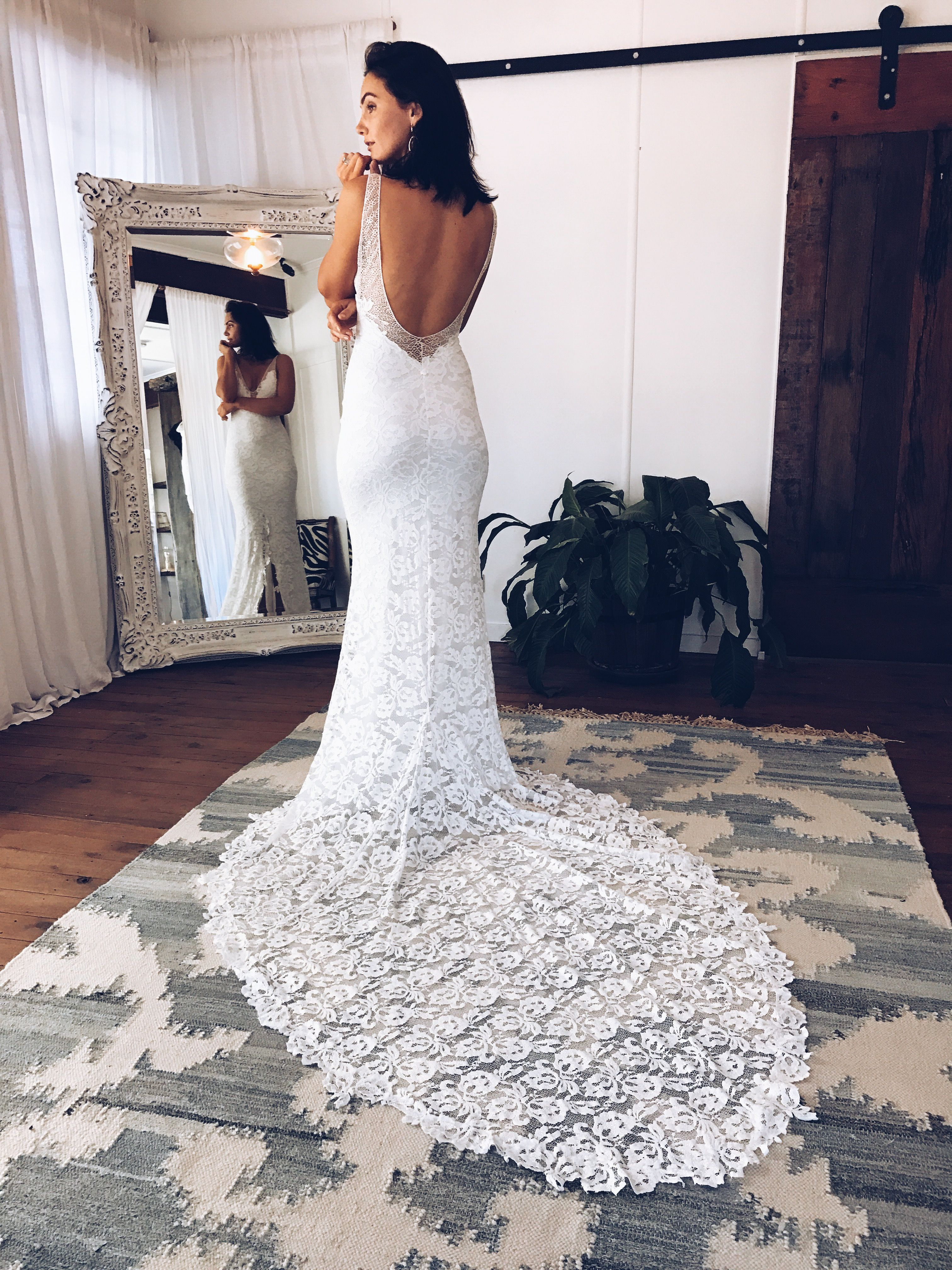 Shop Gia Lace beach wedding dress, Lace mermaid wedding