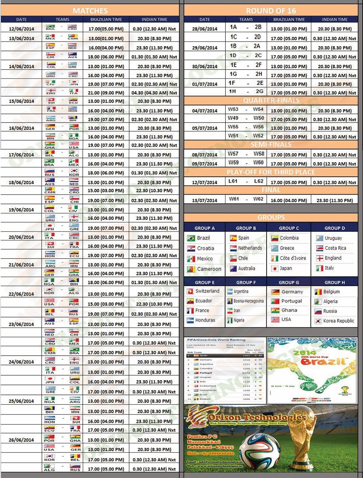 Fifa World Cup 2014 Schedule Download World Cup 2014 Wall Chart World Cup 2014 Wall Chart World Cup 2014 Fifa World Cup World Cup