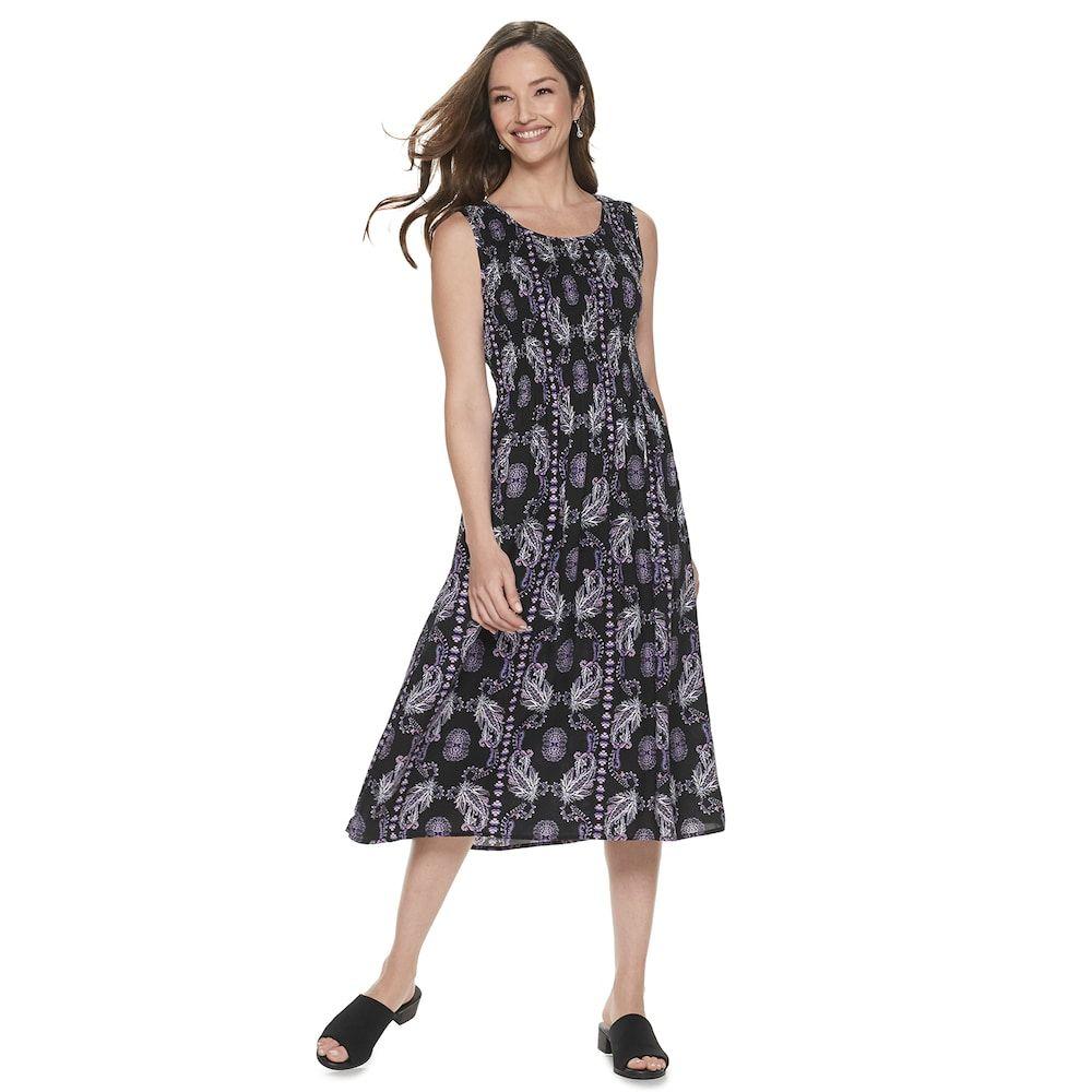 d0387828524 Women s Croft  amp  Barrow® Print Challis Midi Dress