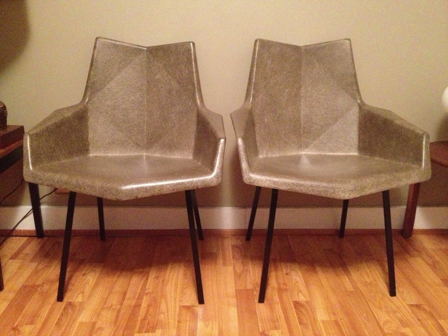 Paul McCobb origami fiberglass arm chairs | - Fab ...