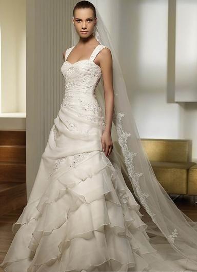 wedding dresses?princess wedding dresses bling?wedding dresses lace open back a-line/princess square chapel bridal gown