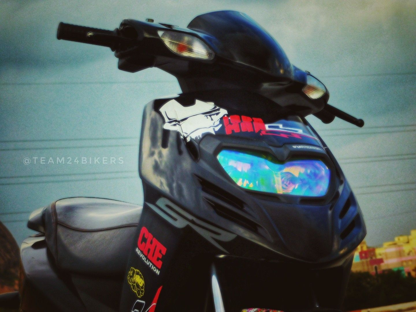 Aprilia sr 150 modified team24bikers mujju24