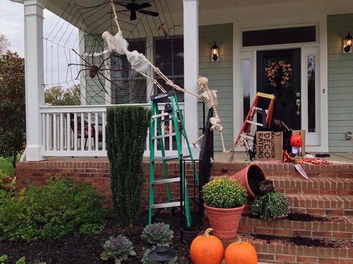 the baxter skeletons halloween decorating gone wrong - Skeleton Halloween Decoration