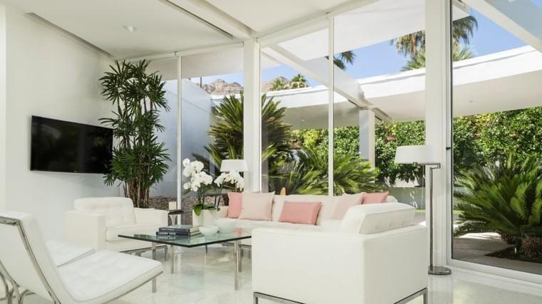 Weiße Farbe für Möbel und Wände im Wohnzimmer Pinterest