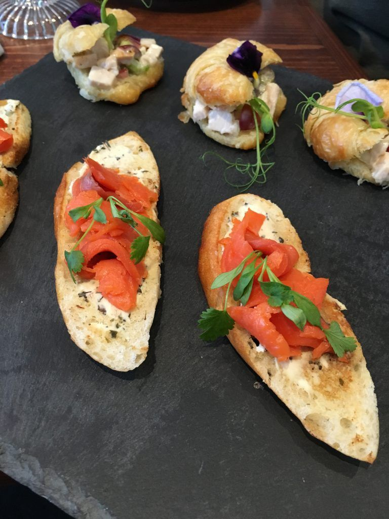 Petite English Style Afternoon Sandwiches Including Smoked Salmon