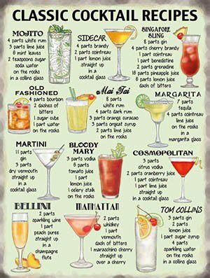 Cocktail Karte.Klassische Cocktails Bar Karte Cocktail Recipes Cocktail Drinks