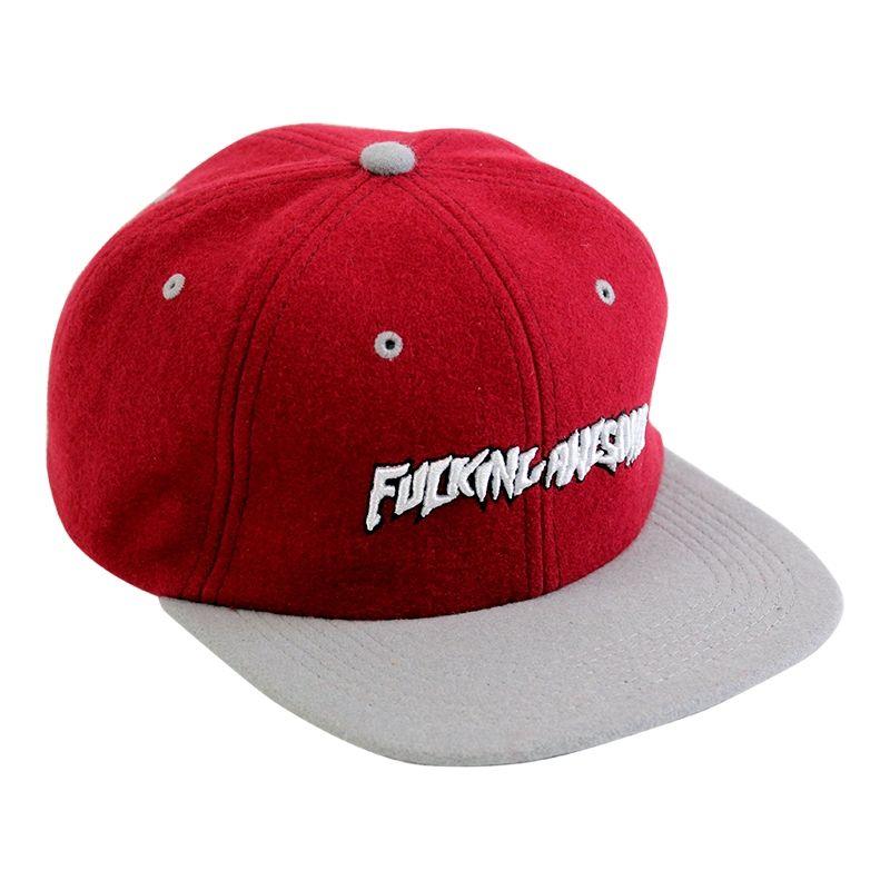 Fucking Awesome FA Felt Logo Hat Maroon Bucket Hat f5e6a4d7fe6