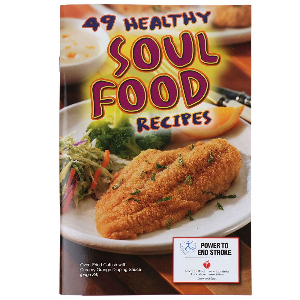 49 healthy soul food recipes cookbook magazine with lapel