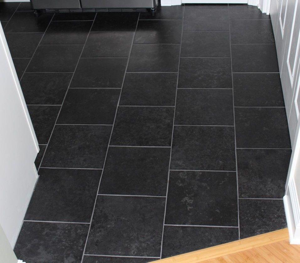 Image Result For 12x12 Inch Floor Tile In Bathroom Tile Floor Black Porcelain Tiles Kitchen Floor Tile Patterns