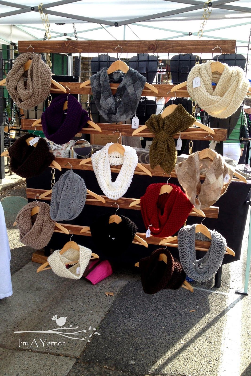 I M A Yarner Scarf Wall Display For Craft Fairs Craft