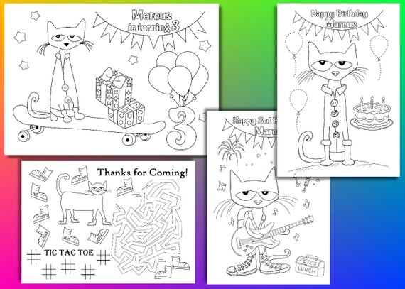 This Product Pete The Cat Coloring Pages Pete The Cat Birthday