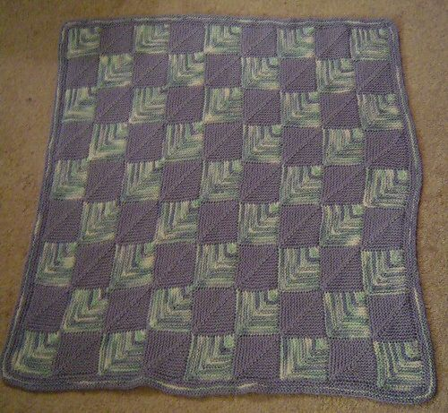 Ravelry Ryan S Mitered Square Baby Blanket Pattern By