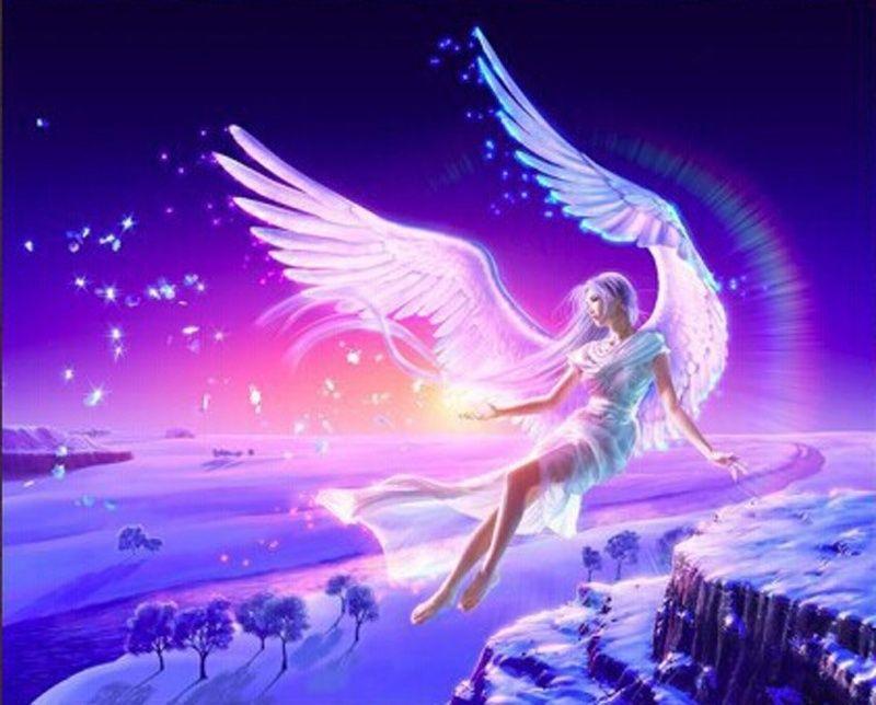 Beauty The Fairy Angel Needlework DIY Diamond Painting Crystal Cross