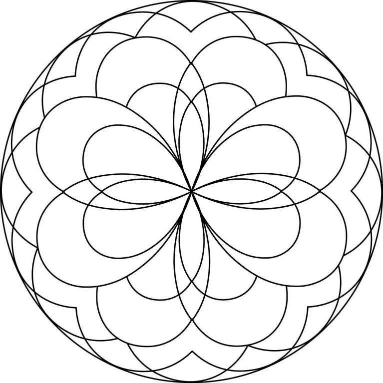 Mandala Da Colorare Per Bambini Foto 12 40 Pourfemme Mandala