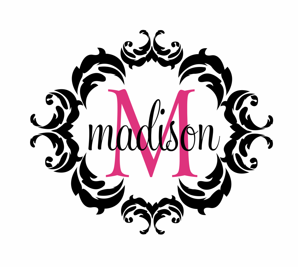 name and initial vinyl wall decal shabby chic by fivestarsigns name and initial vinyl wall decal shabby chic damask border personalized monogram wall decal girl baby nursery room wall art