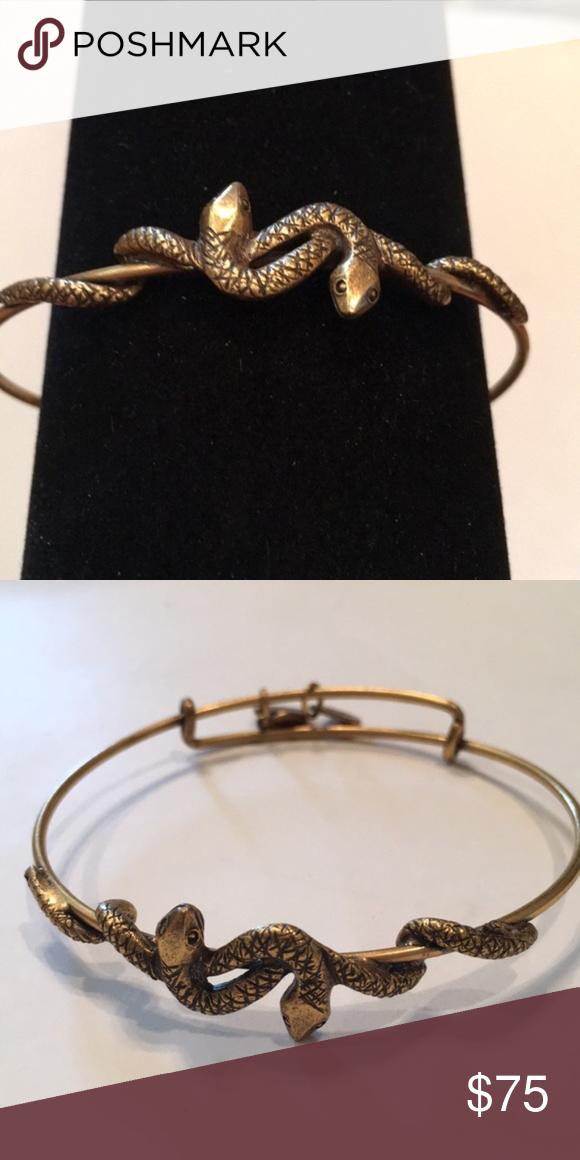 Alex Ani Two Serpents Medusa Bracelet