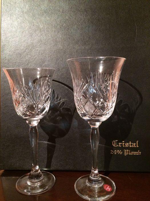 Catawiki Online-Auktionshaus: Set aus 12 Bakkarat Kristallgläsern- Mitte/Ende des 20. Jahrhunderts