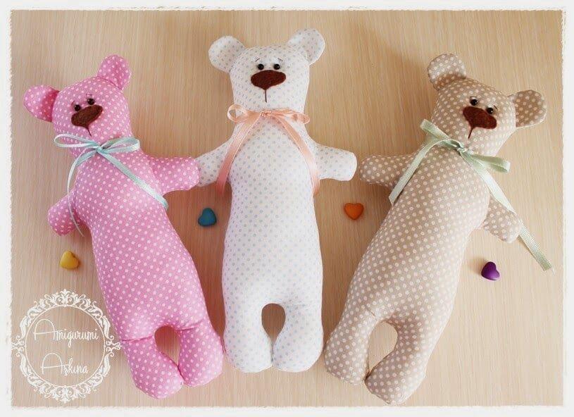 Cartamodelli Bambini ~ Tutorial e cartamodelli orsetti di pezza cucito creativo bambini