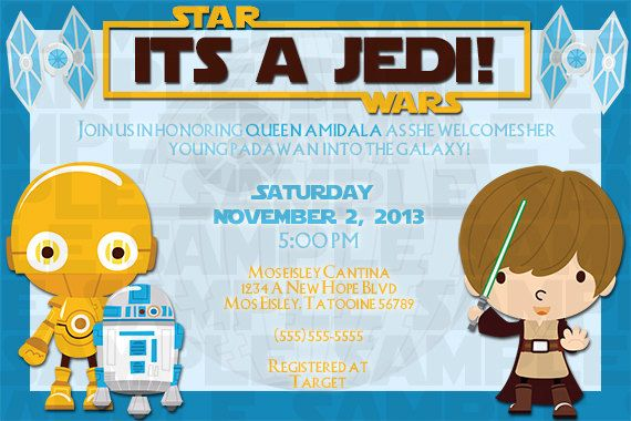 Star Wars Printable Baby Shower Invitation On Etsy 10 00