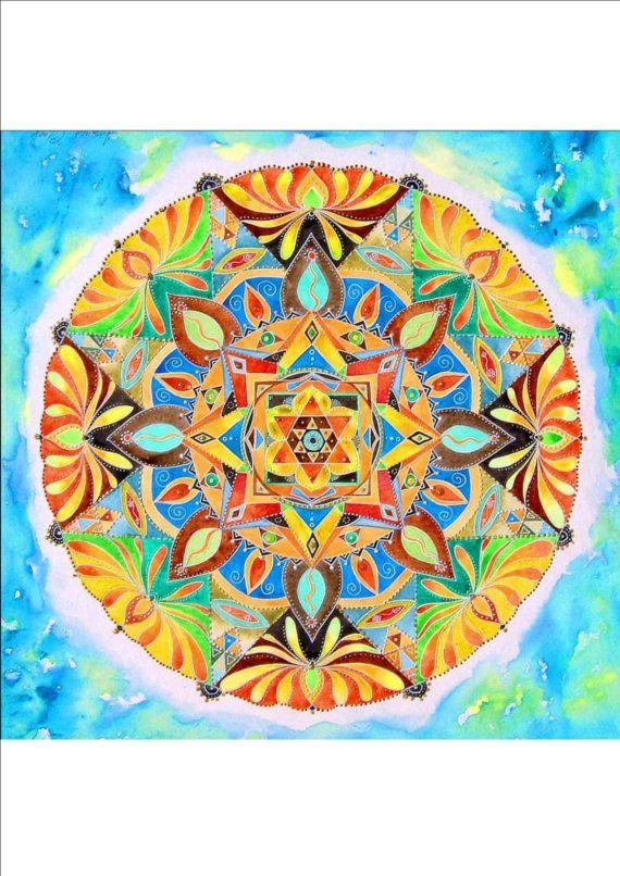 Mandalas for colouring in yourself.