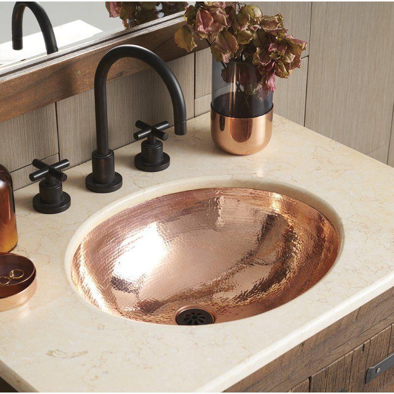Classic Metal Oval Undermount Bathroom Sink Bathroom Sink Design