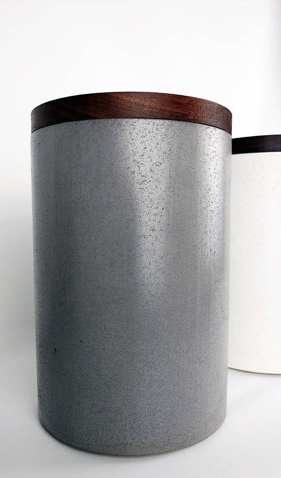 Kitchen Canister Concrete, Canister Modern, Kitchen Storage ...