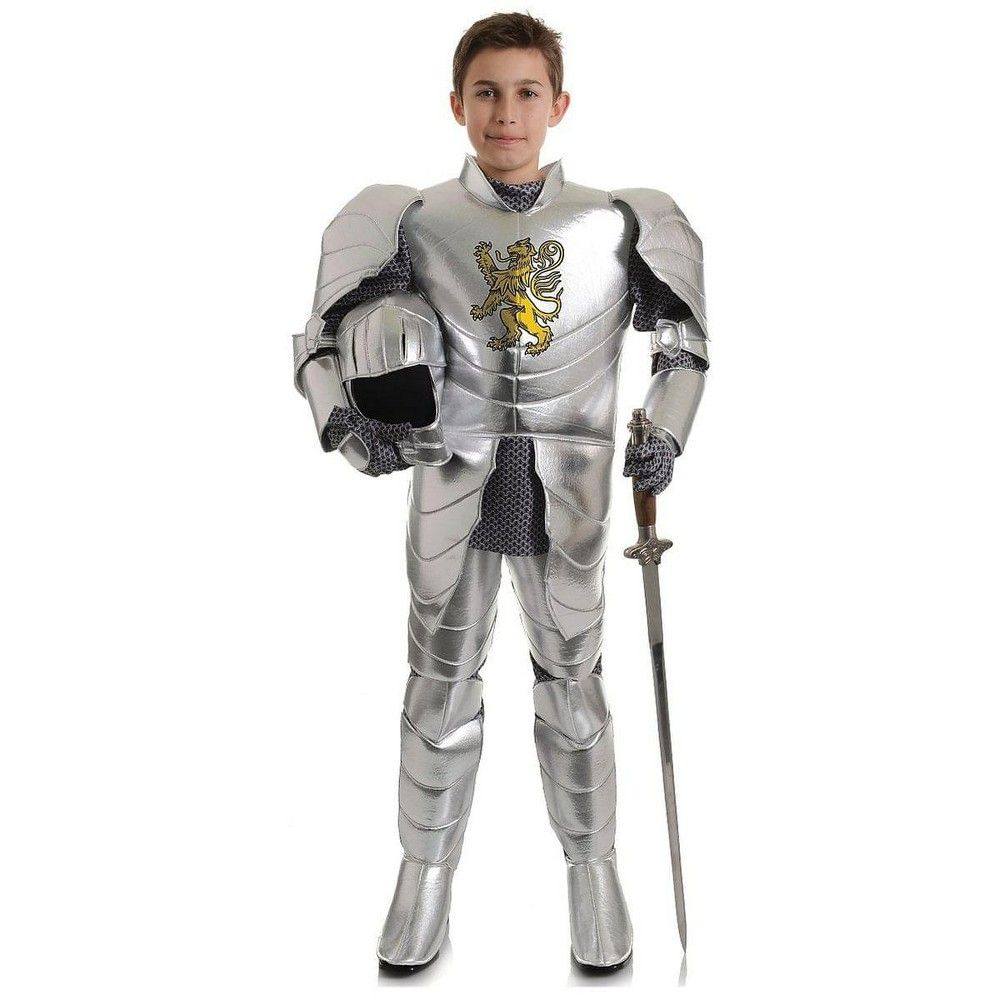Halloween Mens Grey Knight Crusader Soldier Fancy Dress Costume Outfit New M//L
