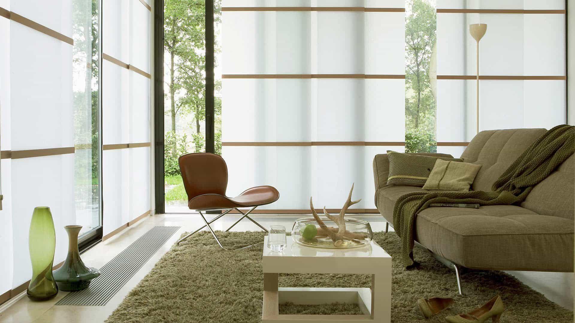 Minimalistische Japanische Wohnzimmer Interieur Stil Kuchenschrank