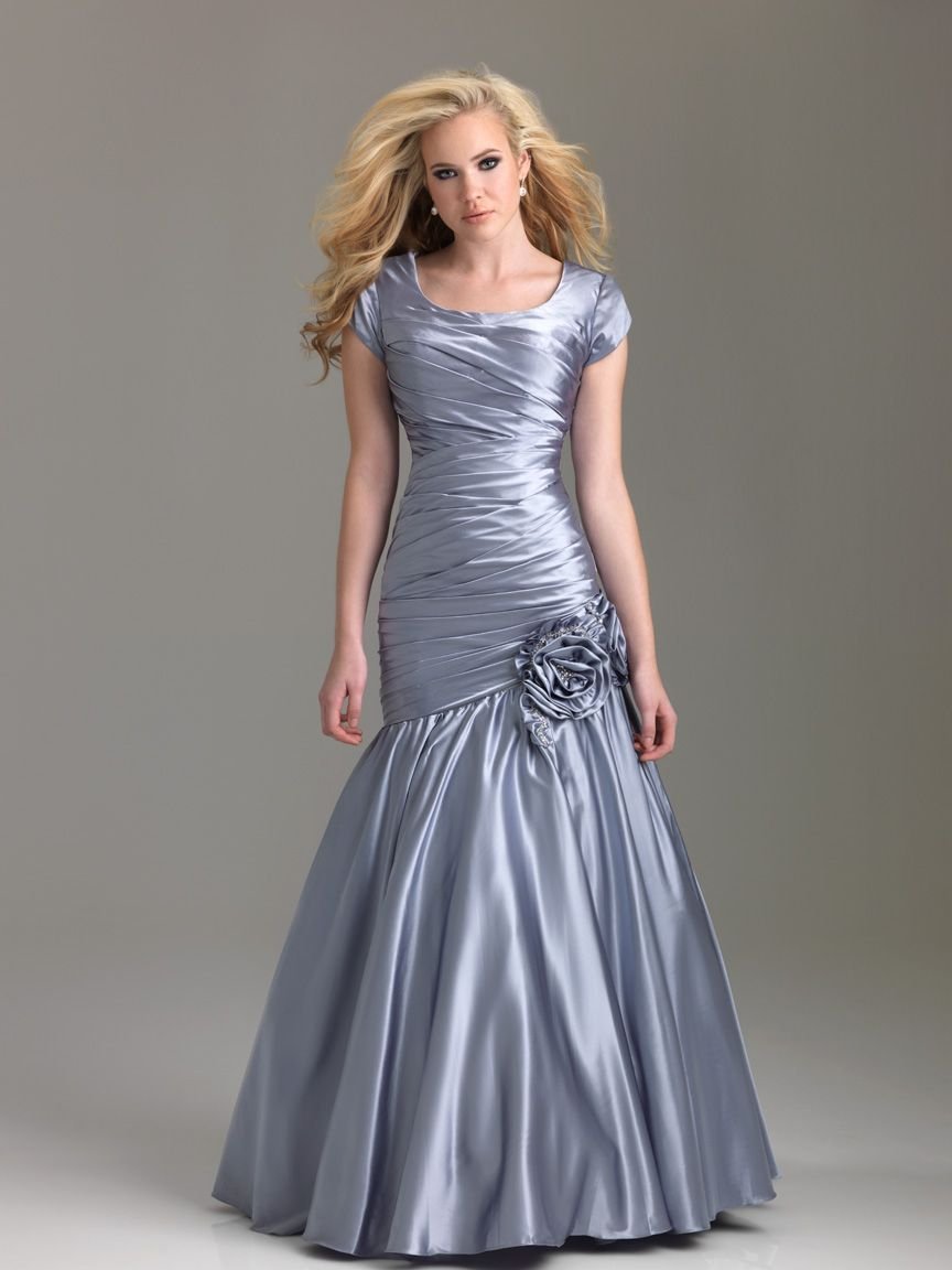 Modest prom dresses silver rosette embellished night moves modest modest prom dresses silver rosette embellished night moves modest prom dress 6584m wu367 ombrellifo Gallery