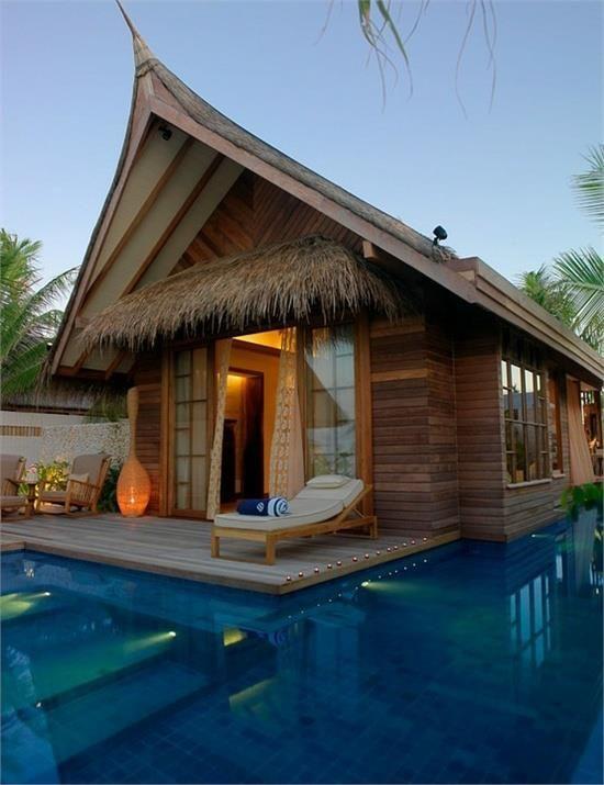 Luxuoso hotel Jumeirah Vittaveli, nas Ilhas Maldivas.