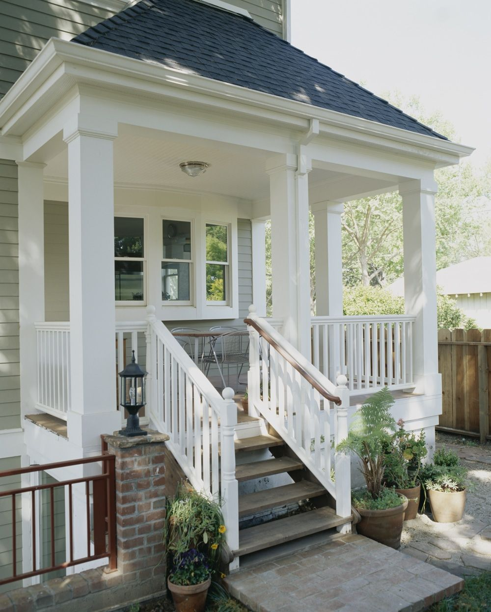Trimmed Out Porch With Column Wraps