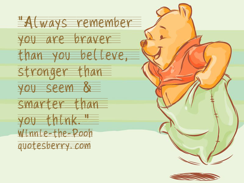 Winnie The Pooh Quote Youre Stronger Than You Think Archidev