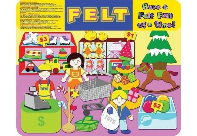 49 Piece Toy Shop Felt Board by Felt Creations #feltcreations