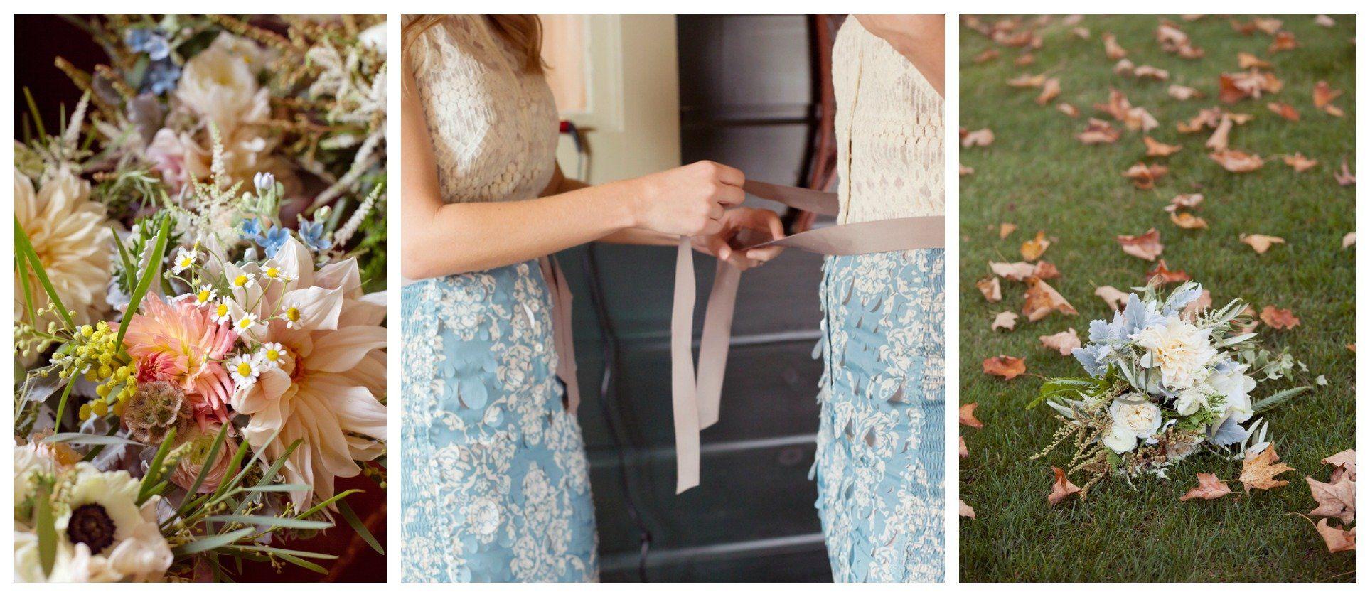 Pastel Floral Bridesmaids Dresses