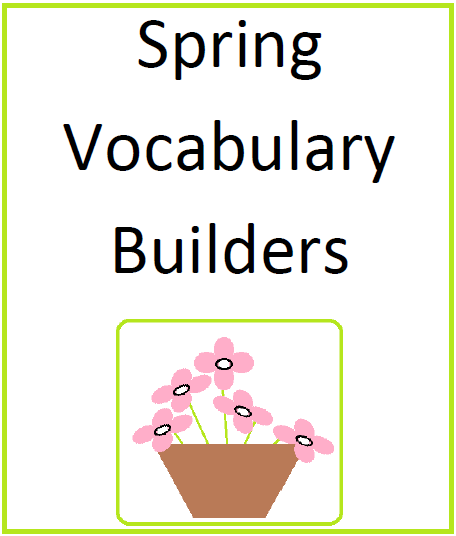 Spring Vocabulary Builders product from Mary-Bauer on TeachersNotebook.com