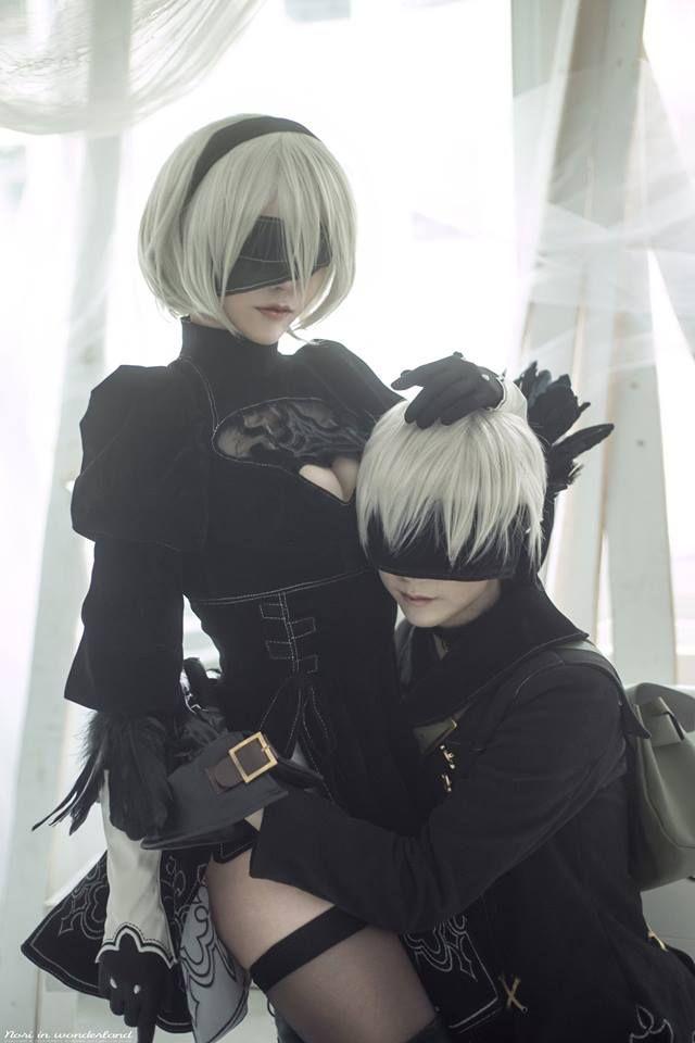 Photo of Nier Automata 9s and 2b cosplay #NierAutomata #nier9scostume #nier2bcostume #c…