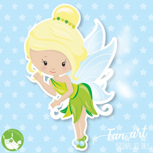 Tinker bell clipart Freebie | Clip art, Painted rocks kids ...