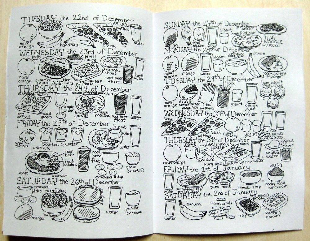 The Various Things I Eat Zine. $5.00, via Etsy.